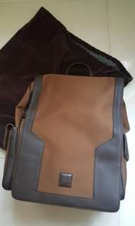 Dunhill Canvas Grained Leather Backpack