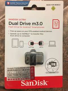 SanDisk Ultra 32GB Dual Drive m3.0 for Android 雙用隨身碟