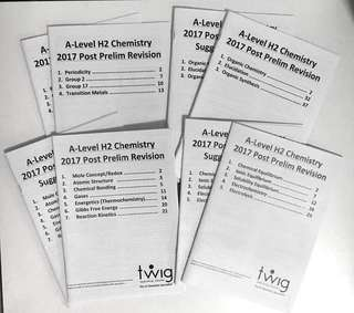 Twig H2 Chemistry Post Prelim Revision booklets