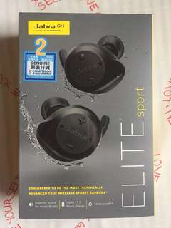 Jabra Elite Sport Upgrade Version Black藍牙無線運動耳機