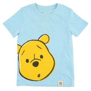Japan Disneystore Disney Store Color of Pooh SCARED Kids Short Sleeved T-shirt Preorder