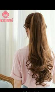 Preorder korean big wave tie on ponytail hair extension *waiting time 15 days after payment is made * chat to buy to order
