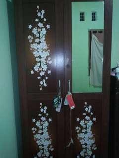Lemari Baju Cermin Kaca 2 pintu
