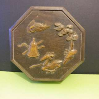 早期手做木雕首飾盒