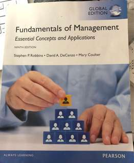 Fundamentals of Management  - essential Concepts and Applications - NINTH EDITION
