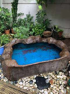 Fiber glass garden pond