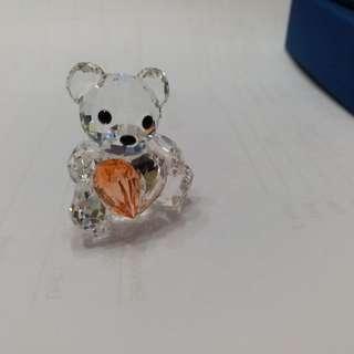Swarovski Crystal Kris Bear  Annual Edition 2007 with Heart #883420
