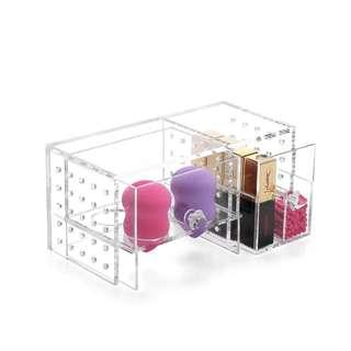 Brand New Clear Acrylic Beauty Blender Sponge Makeup Puff Holder