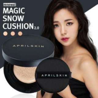 BNIB April Skin Magic Snow Cushion Black 2.0