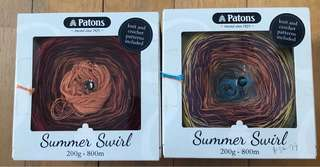 Patons summer swirl yarns