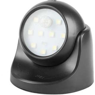 9 LED Motion Sensor 360 Degree Rotation Portable Night Light (Black)