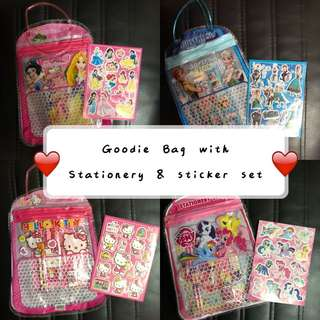 [PACKAGE] Children's Birthday Party Goodies Bag with Sticker Set