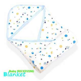 Baby Receiving Blanket - BLUE