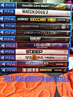 ☆ PS4 GAMES ☆