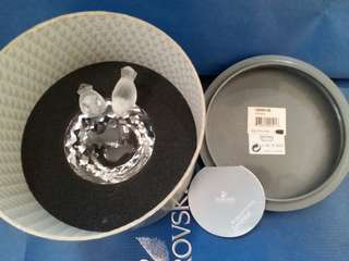 Swarovski Crystal Bird Bath MIB