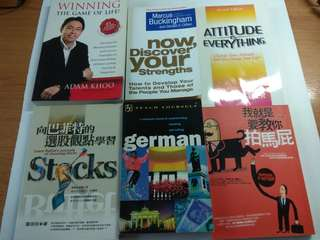 A Lot of Books on Self's Motivational & Well-being, total 6 pcs