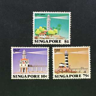 Singapore 1982 Lighthouse full set of 3v MnH