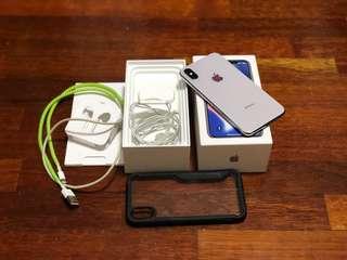 iPhone X 256GB Silver MY Set Full Set Box