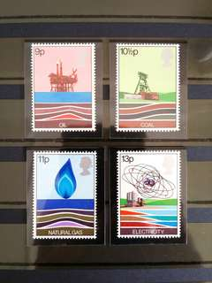 British Royal Mail Mint Stamps: Energy Resources, 25th Jan 1978, Set of 4 in fine mint condition (Great Britain GB)