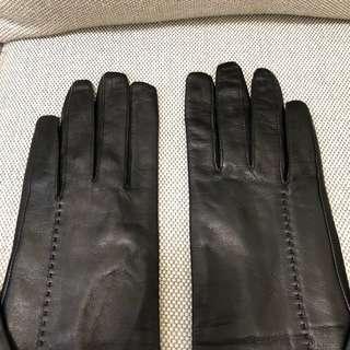 Club Monaco leather long gloves black 女裝黑皮長手套