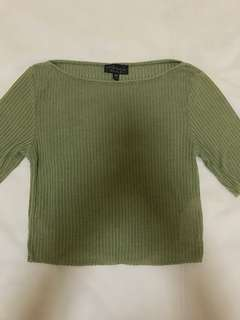 Topshop Ribbed Top