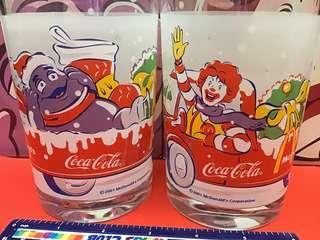 McDonald's 2001年可口可樂聖誕杯兩隻麥當勞叔叔+滑啫啫