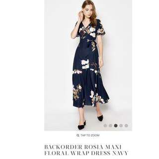 LF Love and Bravery ROSIA MAXI FLORAL WRAP DRESS