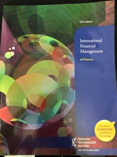 International financial Management by Jeff Madura