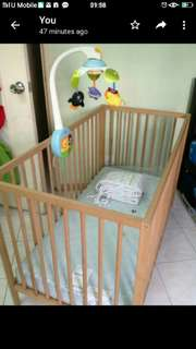 Baby Cot 1 set with Mattress & Bumper