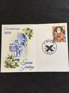 Isle of Man 1979 Year of Child X'mas Greeting Card