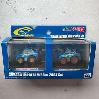 🚚 Choro-Q Subaru WRC 2004 set (Muddy Finish)