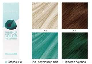 April skin turn up colour in green blue