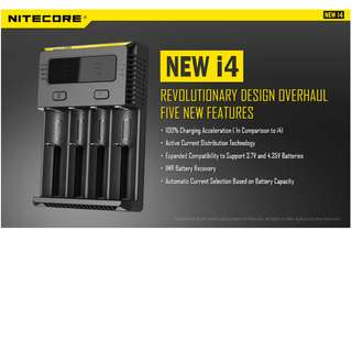 🚚 *NEW* Nitecore New i4 Intellicharger Battery Charger (For Nearly all types of Rechargeble Battery).