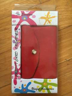 Red Credit Card Organiser