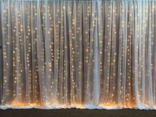 [Rent] Fairylights white curtain backdrop