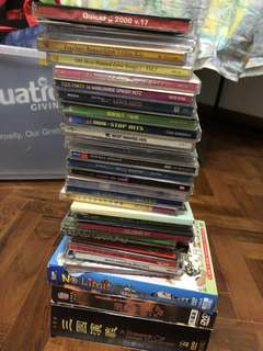 🚚 Musics and movies: Entire set of 30+ CDs and DVDs