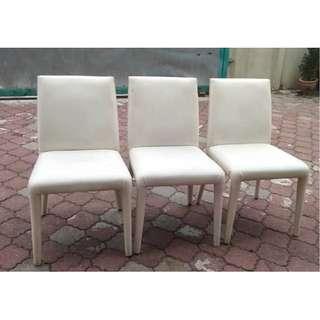 Kerusi Dining Chair White X 3 units * L43 B