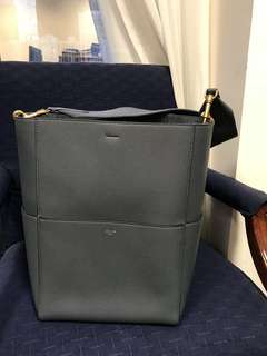 Celine Sangle Bucket Bag (Slate)