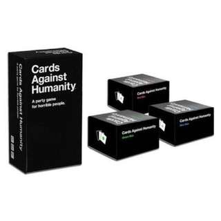 Cards against humanity (optional: Expansion packs)