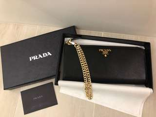 100% authentic Prada clutch wallet