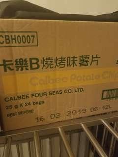 卡樂b薯片 燒烤味 一箱