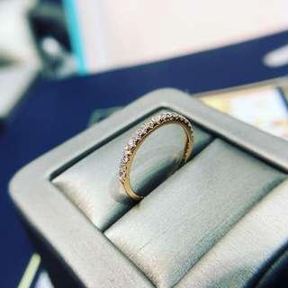 28份鑽石戒指 KR001501 18k玫瑰金