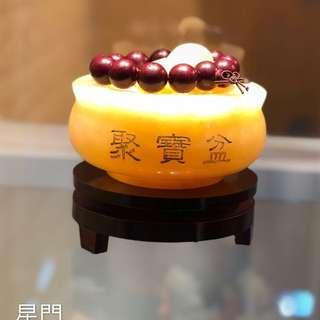 聚寶招財   天然黃玉石聚寶盆