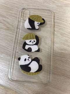 (包郵) iPhone X熊貓電話殼