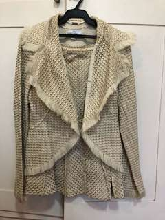 MANGO Tweed Blazer and Skirt