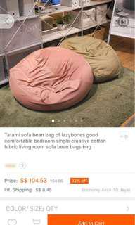 Soft muji-like bean bag *one pc left*