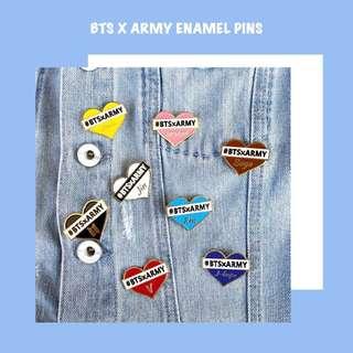 BTS X ARMY Enamel Pins