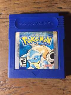 Authentic DMG Gameboy Pokemon Blue US cart