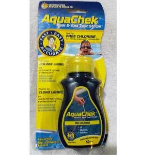 Aquachek Yellow Test Strips Free Chlorine, 50 Strips