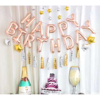 (In Stock)Paper Tassel Party Decoration Set-Happy Birthday